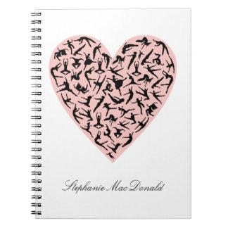 Pretty Pink Dance Heart Notebook