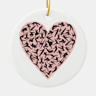 Pretty Pink Dance Heart Ornament