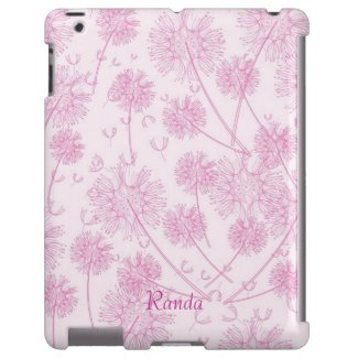 Pretty Pink Dandelion iPad Case