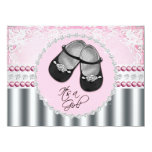 Pretty Pink Diamonds and Pearls Baby Shower Personalized Invite