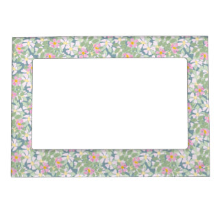 Pretty Pink Dogroses on Deep Blue Picture Frame