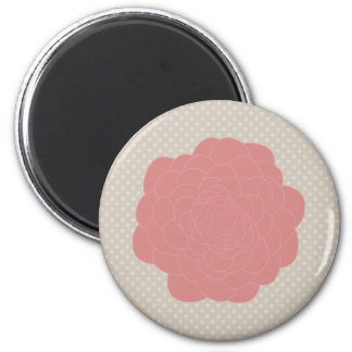 Pretty Pink Doodle Flower 2 Inch Round Magnet