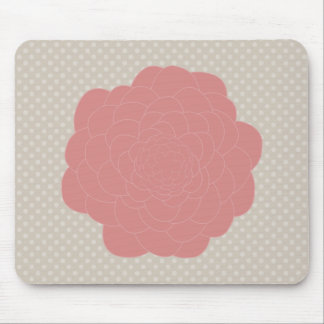 Pretty Pink Doodle Flower Mouse Pad