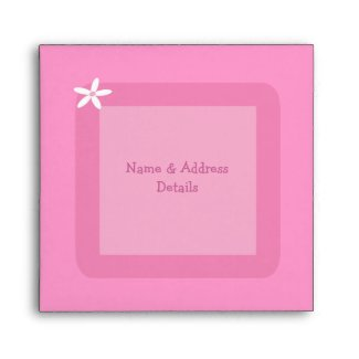 Pretty Pink Elephant Baby Shower envelope
