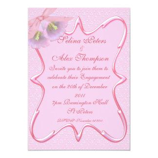 Pretty Pink Engagement Invitation