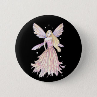 Pretty Pink Fairy Pin by Molly Harrison