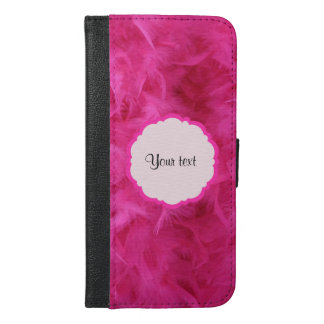 Pretty Pink Feathers iPhone 6/6s Plus Wallet Case