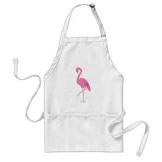 Pretty pink flamingo adult apron