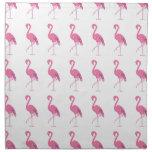 Pretty pink flamingo printed napkin