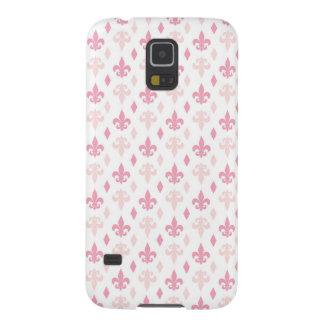 Pretty Pink Fleur de Lis Pattern Galaxy S5 Cases