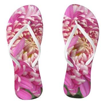 Beach Themed Pretty Pink  Flip Flops
