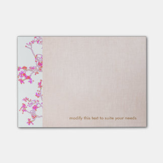Pretty Pink Floral Buds Branch Post-it® Notes