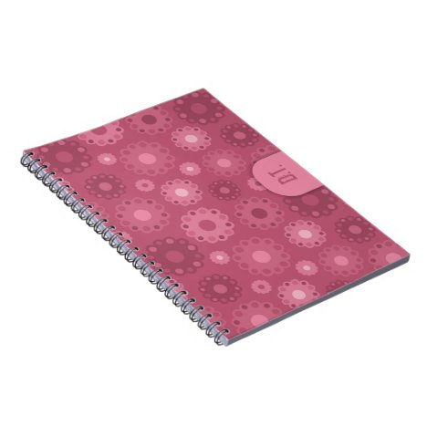 Pretty pink floral doileys notebook