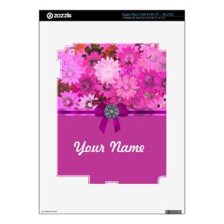 Pretty pink floral iPad 3 skin