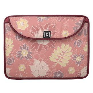 Pretty Pink Floral Macbook Pro Sleeve