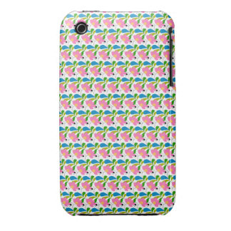 Pretty Pink Floral Pattern Case-Mate iPhone 3 Cases