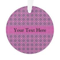 Pretty Pink Floral Pattern Ornament