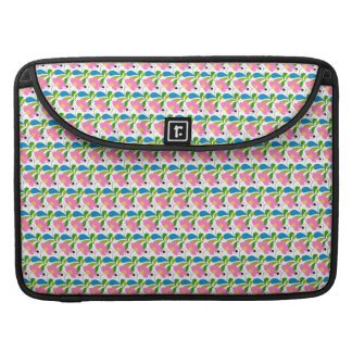 Pretty Pink Floral Pattern Sleeve For MacBooks