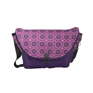 Pretty pink Floral Pattern Small Messenger Bag