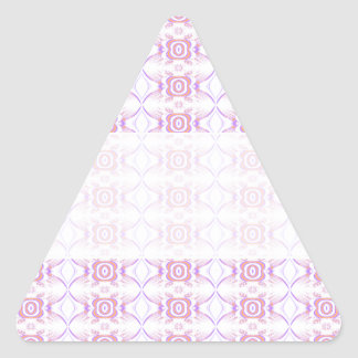 Pretty Pink Floral Pattern. Triangle Sticker