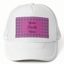 Pretty pink Floral Pattern Trucker Hat
