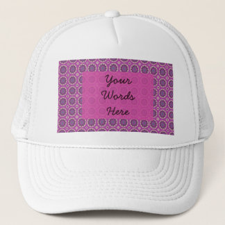 Pretty pink Floral Pattern Trucker Hat