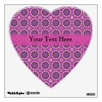 Pretty Pink Floral Pattern Wall Sticker