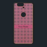 """Pretty Pink Floral Pattern Wood Nexus 6P Case<br><div class=""""desc"""">Pretty floral pattern. Cute pointed pink flowers with a touch of green and purple, are surrounded by a circle. Along with other modern geometric shapes, they make a unique trendy pattern. Girly, feminine and stylish floral artwork. Personalize and add your name, message or other text, or remove the solid color...</div>"""
