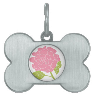 Pretty Pink Floral Pet Tag