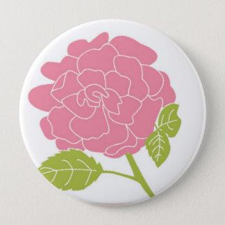 Pretty Pink Floral Pinback Button
