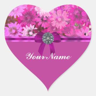 Pretty pink floral sticker