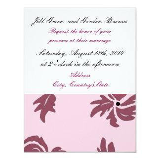 Pretty Pink Floral Wedding Invitation