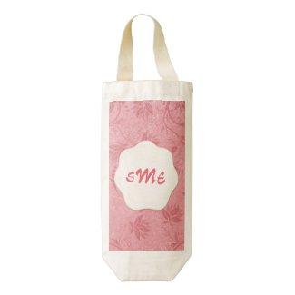 Pretty Pink Floral Zazzle Heart Wine Bag