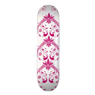 Pretty Pink Flourish Girly Elegant Floral Print Skateboard Deck