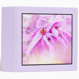 Pretty Pink Flower Blossoms 3 Ring Binder