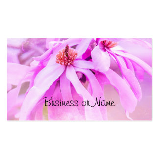 Pretty Pink Flower Blossoms Double-Sided Standard Business Cards (Pack Of 100)