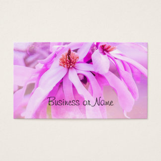 Pretty Pink Flower Blossoms Business Card