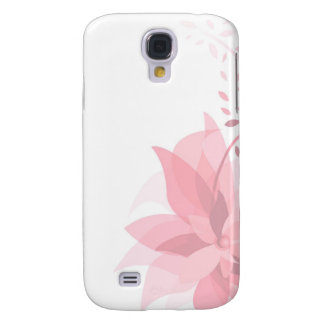 Pretty pink flower galaxy s4 covers