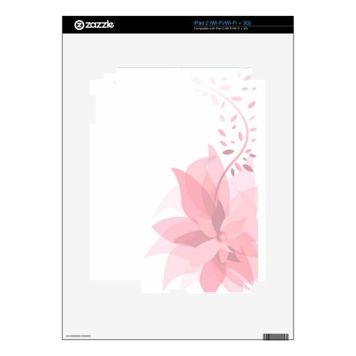 Pretty pink flower decals for the iPad 2