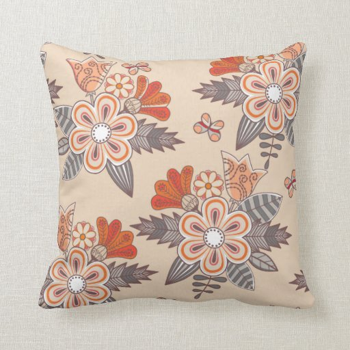Pink Floral Decorative Pillows : Pretty Pink Flower Floral Decorative Throw Pillow Zazzle