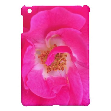 Beach Themed Pretty Pink Flower iPad Mini Case