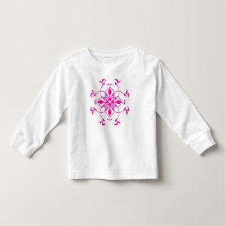 Pretty pink flower toddler t-shirt