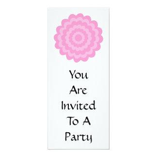 Pretty pink flower. White Background. 4x9.25 Paper Invitation Card