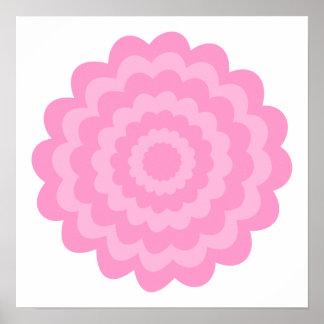 Pretty pink flower. White Background. Print