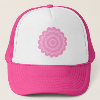 Pretty pink flower. White Background. Trucker Hat