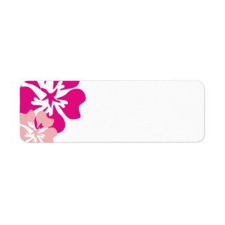 Pretty Pink Flowers Blank labels