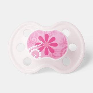 Pretty Pink Flowers Cute Retro Daisy Pattern Pacifier