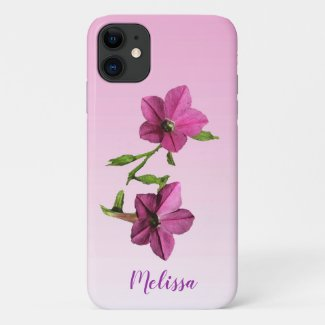 Pretty Pink Flowers Floral iPhone 11 Case