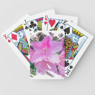 Pretty Pink Flowers in the Sun Bicycle Playing Cards