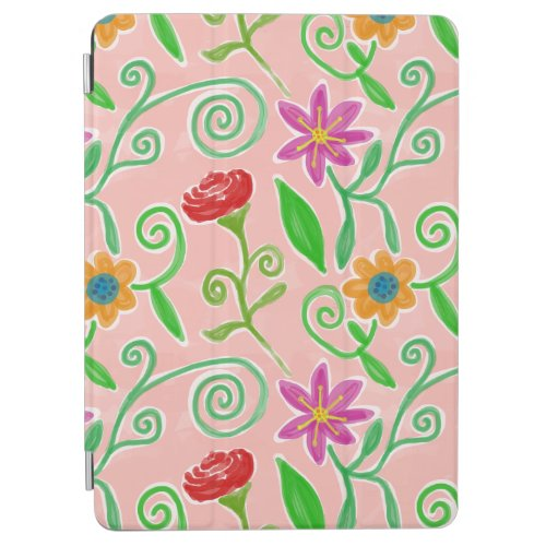 Pretty Pink Flowers iPad Air Cover